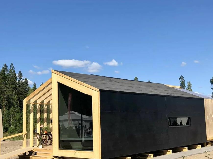 Вариант дизайна: мини домик по фински