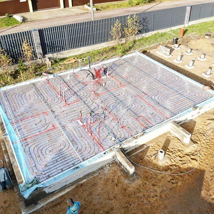 Все готово к заливке бетонной стяжки пола