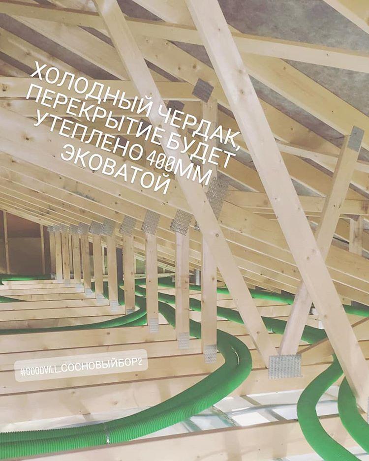 Закончен монтаж гибких воздуховодов системы вентиляции